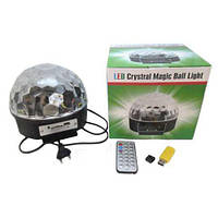 Разноцветный диско шар с плеером LED Magic Ball