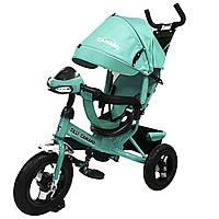 Детский трехколесный велосипед музыка свет TILLY Camaro T-362 Ментол надувные колеса