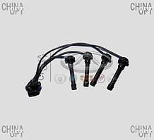 Провода высоковольтные, комплект, 472, MT, черный наконечник, силикон, Chery QQ [S11, 1.1], S11-3707020-50BA, Sentech