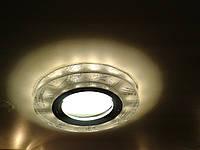 Точечный светильник Feron 8686-2 MR16 с LED подсветкой серебро