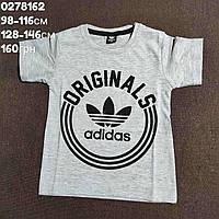 Футболка для хлопчика. Adidas. 98-116см, 128-146см. Туреччина. Сіра