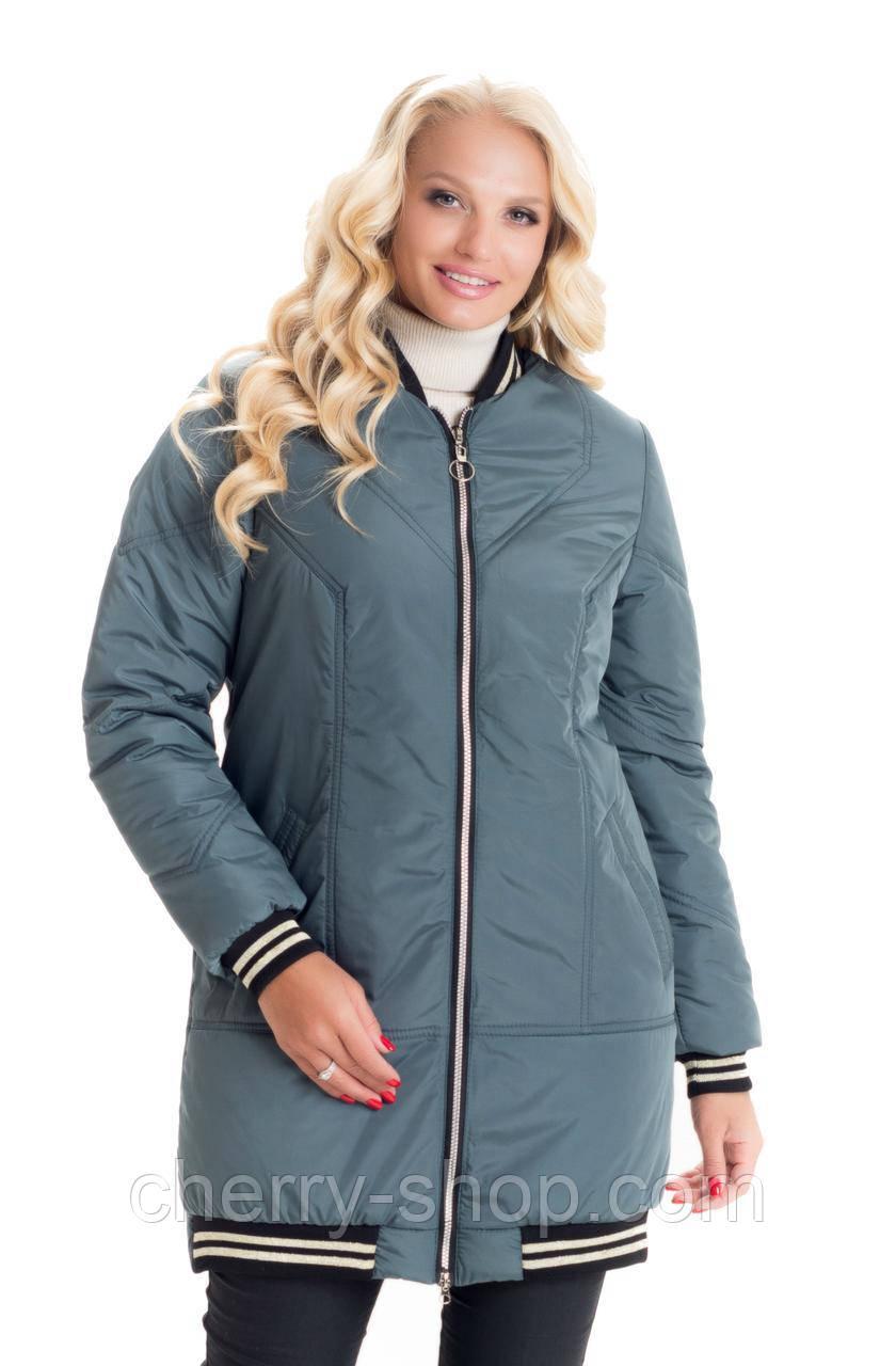 Модная удлинённая куртка утепеланная силиконом