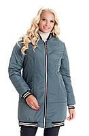 Модная удлинённая куртка утепеланная силиконом, фото 1