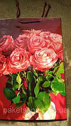 Подарочный детский пакет СРЕДНИЙ ''Букет из роз'' 17*26*8 см