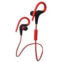 Беспроводные наушники BT-01 Bluetooth спортивные красный, фото 1