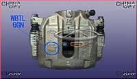 Суппорт тормозной передний левый, 6GN, Chery M12 [HB], M11-3501050, Original parts