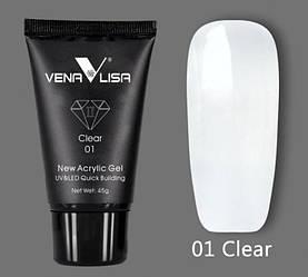 Акрил-гель VENALISA №01 UV/LED 45 г, сlear