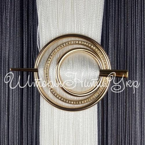 Заколка для штор нитей Круг Элит №1 Золото глянец