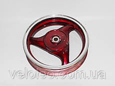 Диск задній 12''  х 2,50 - (125-150 CC) литий, барабан торм. 110 мм, 18 шліц. (черв)
