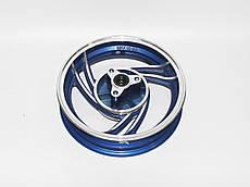 Диск передній 10'' х 2,15 - WIND, литий, диск.торм., (синій)