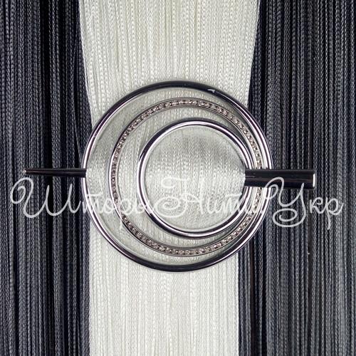 Заколка для штор нитей Круг Элит №2 Серебро Глянец (хром)