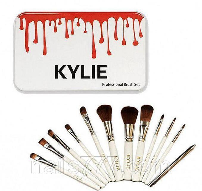 Набор кистей для макияжа Kylie, 12шт