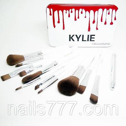 Набор кистей для макияжа Kylie, 12шт, фото 2