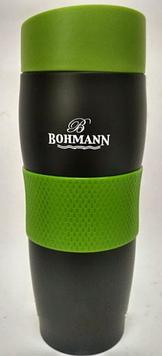 Термокружка Bohmann BH 4457 black-green - 0.38л (черно-зеленая)