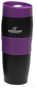 Термокружка Bohmann BH 4457 black-violet - 0.38л (черно-фиолетовая)
