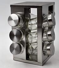 Набор для специй BN-174 12 шт на подставке нержавеющая сталь+стекло