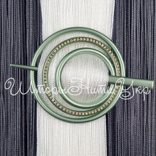 Заколка для штор нитей Круг Элит №9 Оливковый