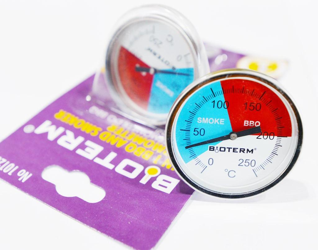 101200 Термометр механический для коптильни и барбекю Biowin 0°C +250°C