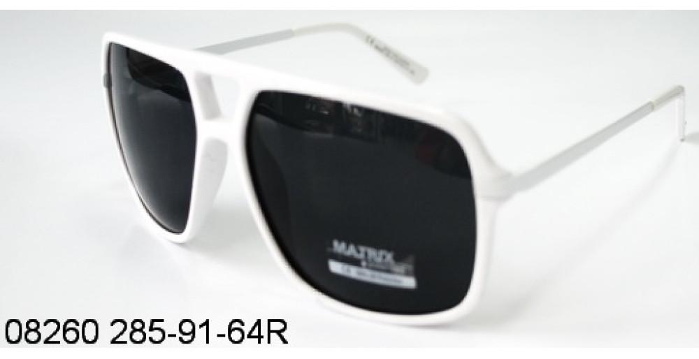 Очки Matrix поляризационные 08258 285-91-6 черные. белая оправа