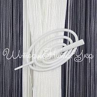 Заколка для штор нитей Овал №0 Белый