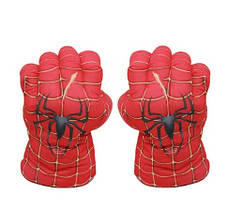 Огромные мягкие перчатки в виде кулаков Человека Паука. Перчатки красные, фото 2