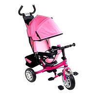 Велосипед трехколесный детский Lexus Super Trike VT1409 Розовый надувные колеса