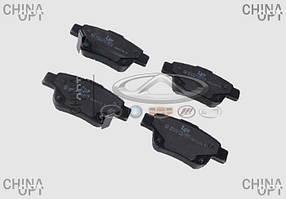 Колодки тормозные задние, дисковые, Geely EC8[2.4,GP,AT], 101402006059, LPR