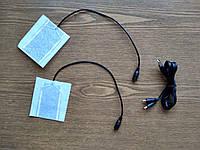 Нагревательные элементы для носков, перчаток с подогревом. Текстиль (8см * 7.5см.) 5V 1.4A + USB Кабель