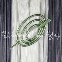 Заколка для штор нитей Овал №9 Оливковый