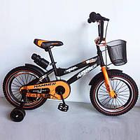 """Детский велосипед """"HAMMER-16"""" S600 16д.Черно-оранжевый, фото 1"""
