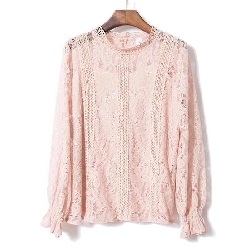 Красивая гипюровая блуза Китай (в расцветках)