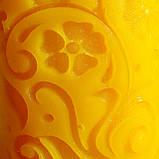 """Восковая свеча """"Средняя с васильками"""" из натурального пчелиного воска, фото 6"""