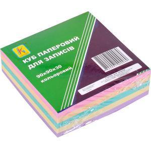 Блок 300 листов 90×90 мм цветной «Коленкор»                      BSX9/300