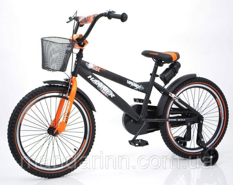 """Детский велосипед """"HAMMER-20"""" S600 20д. Черно-оранжевый"""