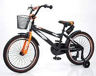 """Детский велосипед """"HAMMER-20"""" S600 20д. Черно-оранжевый, фото 1"""