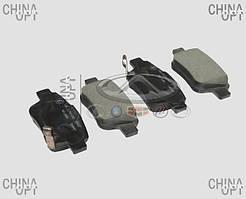 Колодки тормозные задние, дисковые, Geely EC8[2.4,GP,AT], 101402006059, ABE