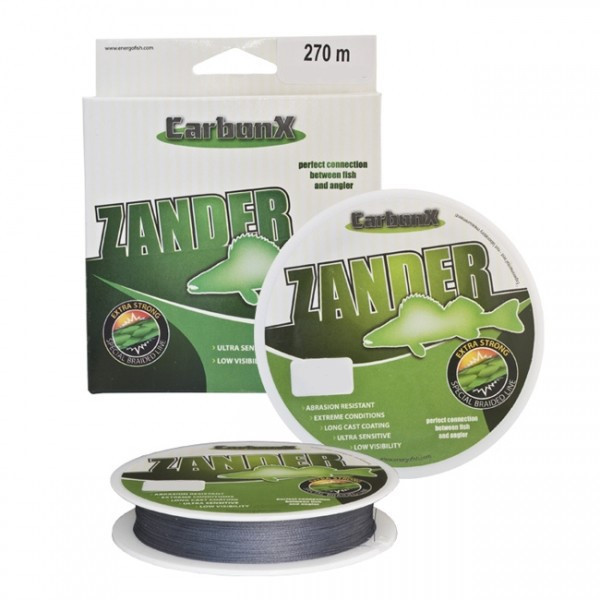 Шнур Energofish Carbon X4 Zander Grey 270м 0.10mm 8.4kg (30950310)