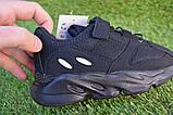 Детские кроссовки сетка  Adidas Yeezy 700 Black адидас черный, копия, фото 3