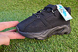 Детские кроссовки сетка  Adidas Yeezy 700 Black адидас черный, копия, фото 5
