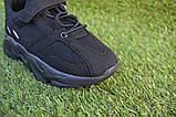 Детские кроссовки сетка  Adidas Yeezy 700 Black адидас черный, копия, фото 7