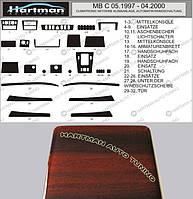 Накладки на панель под дерево Mercedes C-Klass W202 (1997-2000)