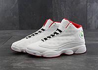 Кроссовки мужские Nike Air Jordan Retro 13 в стиле Найк Джордан, натуральная кожа, текстиль код KD-114. Белые