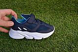 Дитячі кросівки сітка Adidas Yeezy Boost Blue Адідас ізі буст темно сині , копія, фото 5