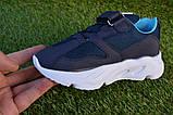 Дитячі кросівки сітка Adidas Yeezy Boost Blue Адідас ізі буст темно сині , копія, фото 6