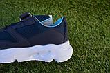 Дитячі кросівки сітка Adidas Yeezy Boost Blue Адідас ізі буст темно сині , копія, фото 8