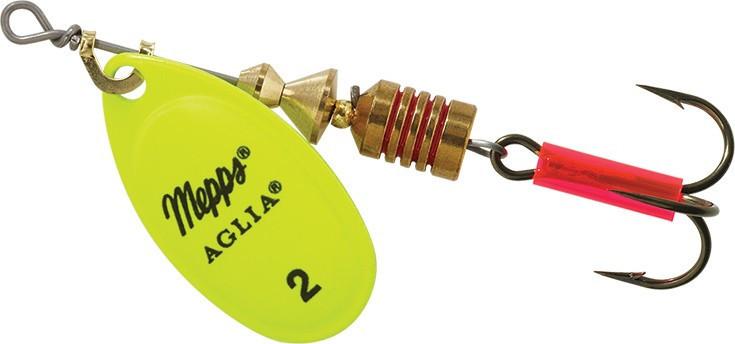 Блесна Mepps Aglia 2 Fluo Chartreuse 4.5g