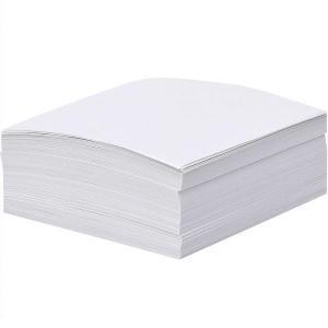 Блок 200 листов 80×80 мм белый офсет «Коленкор»