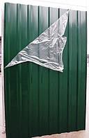 Профнастил цветной, 8-ми волновой, цвет: зеленый, 1,5м Х 0,95м