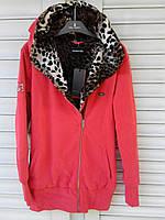 Куртка женская спортивная теплая с капюшоном двойная , хлопок , фирма Billcee