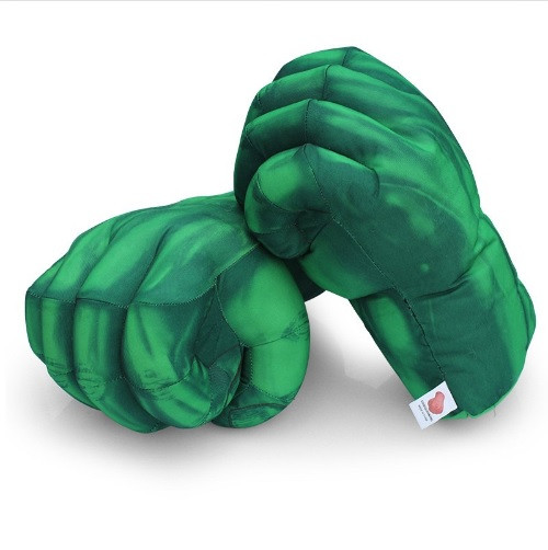 Огромные мягкие перчатки в виде кулаков Халка. Большие зеленые перчатки